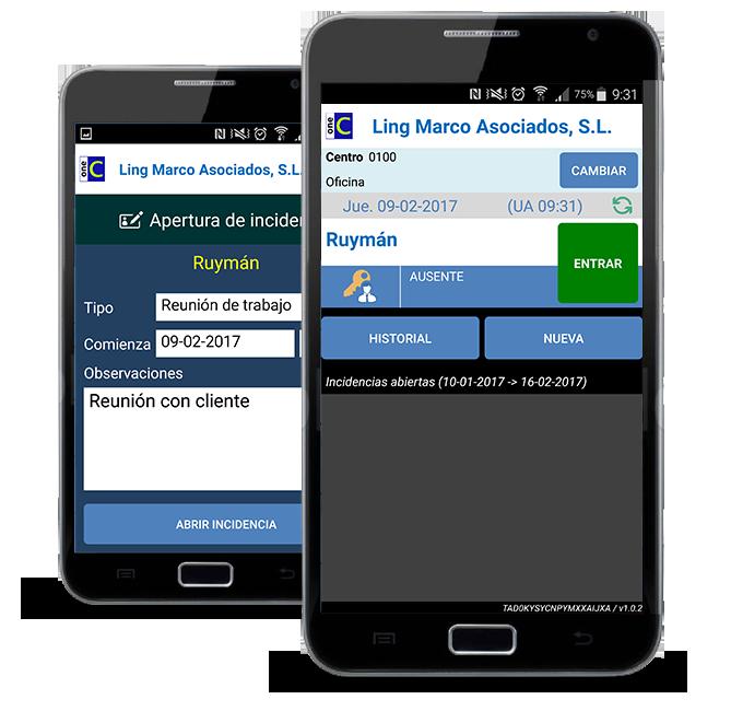 oneCOP App para el control del horario de tus trabajadores
